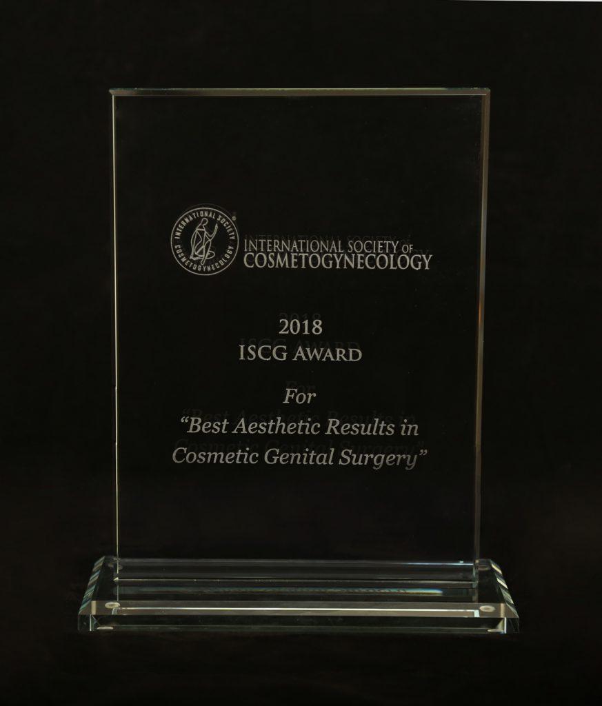 International Society of Cosmetogynecology Award 2018